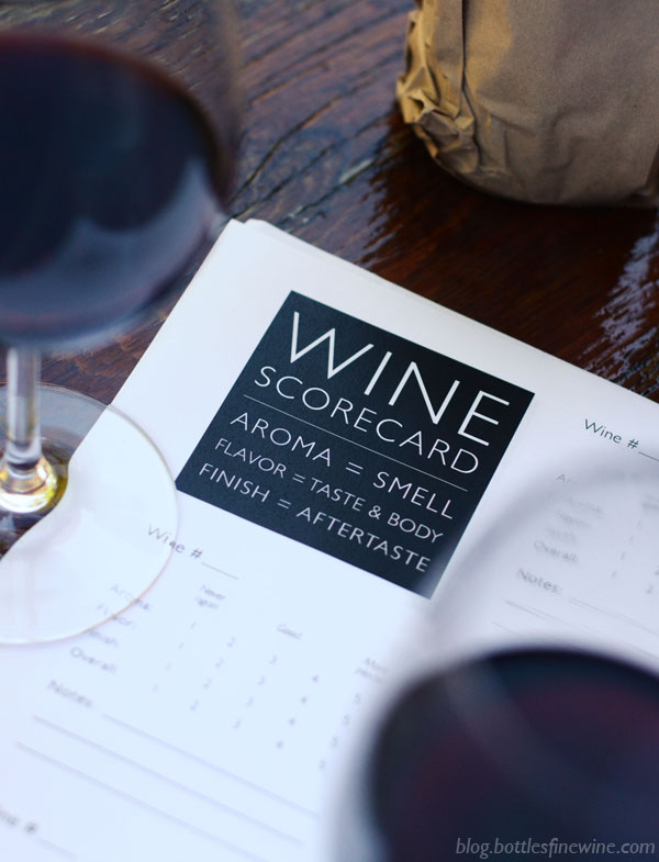 Free Printable Download - Wine Tasting Scorecard