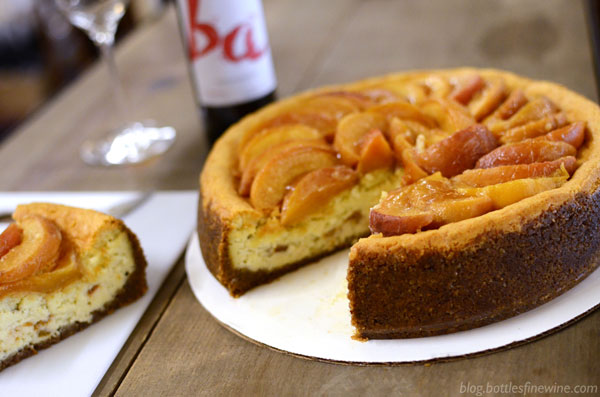 Bourbon Roasted Peach Cheesecake