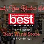 Bottles is Rhode Island Monthly's Best Wine Shop 2013!