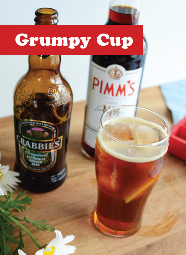 Grumpy Cup recipe with Pimms and Crabbie's Ginger Beer