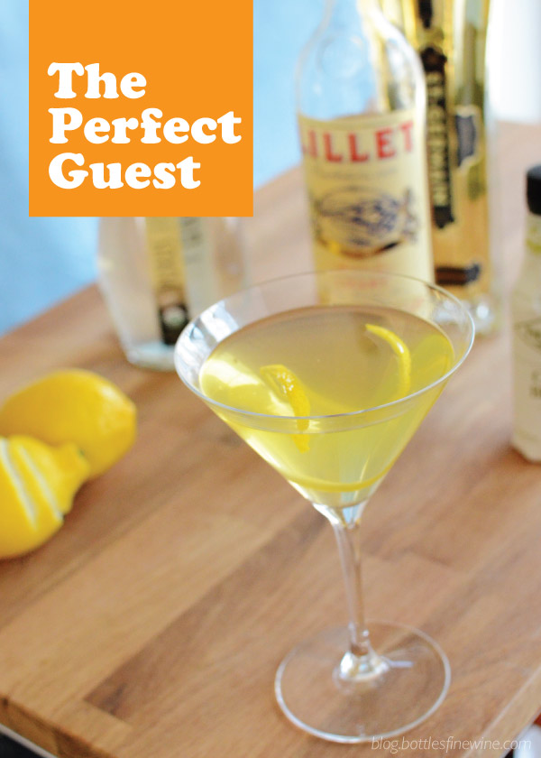 The Perfect Guest Cocktail - Lillet, Vodka, St. Germain