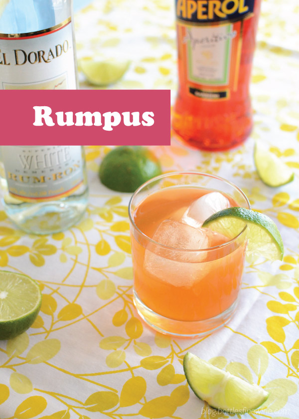 Rumpus Cocktail - White Rum, Aperol, lime juice