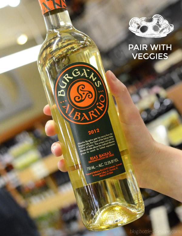 white wine and veggie pairings