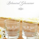 Botanical Engraved Glassware for Spring
