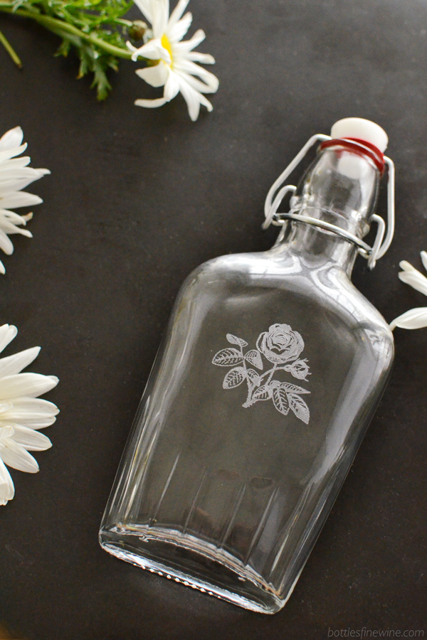 Rose Glass Flask