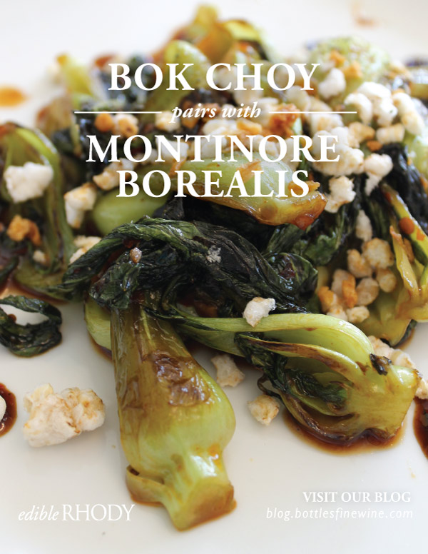 Bok Choy Recipe and Wine Pairing