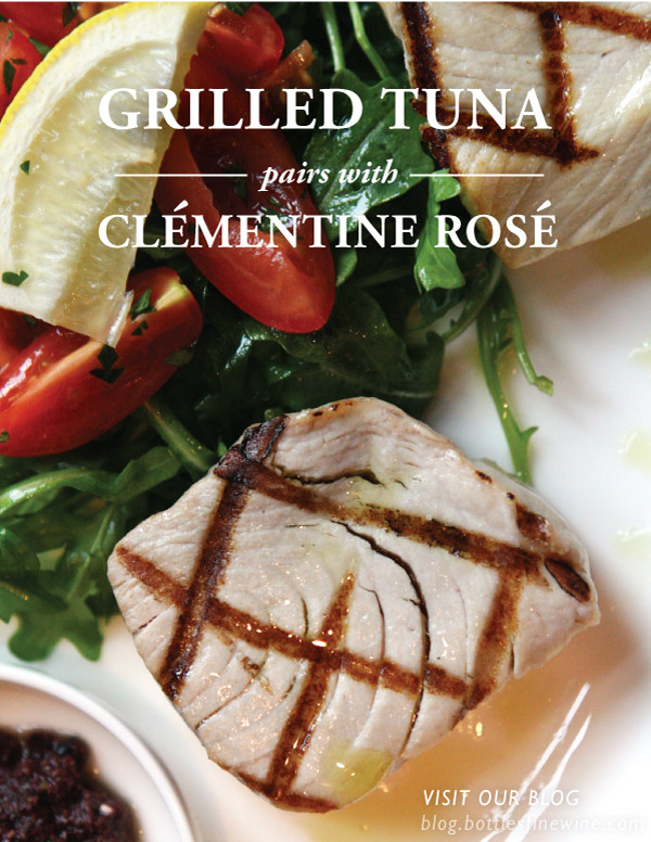 Grilled Tuna recipe and wine pairing