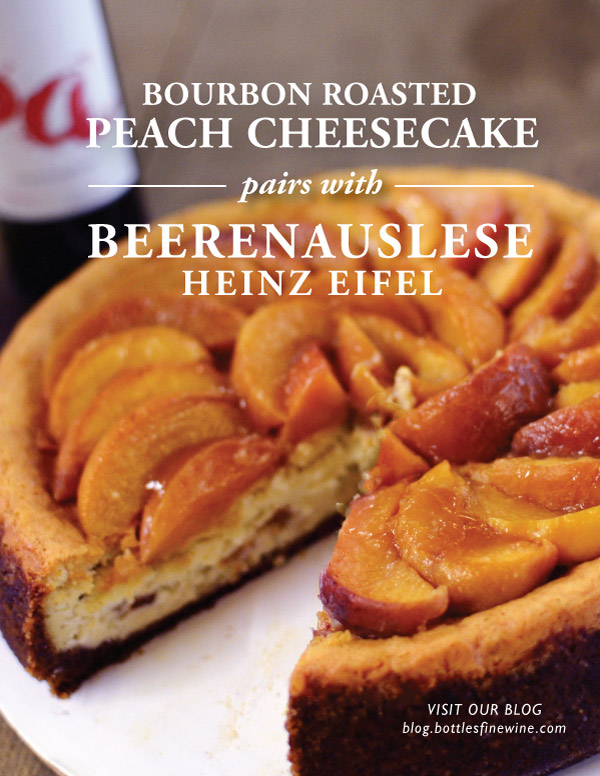 Bourbon Peach Cheesecake & Dessert Wine Pairing