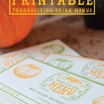 3 Thanksgiving Drink Menus – Free Printables!