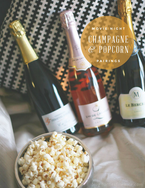 Movie Night Party Idea - Popcorn and Champagne Pairings